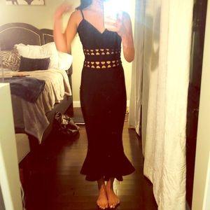 Long black bandage dress!